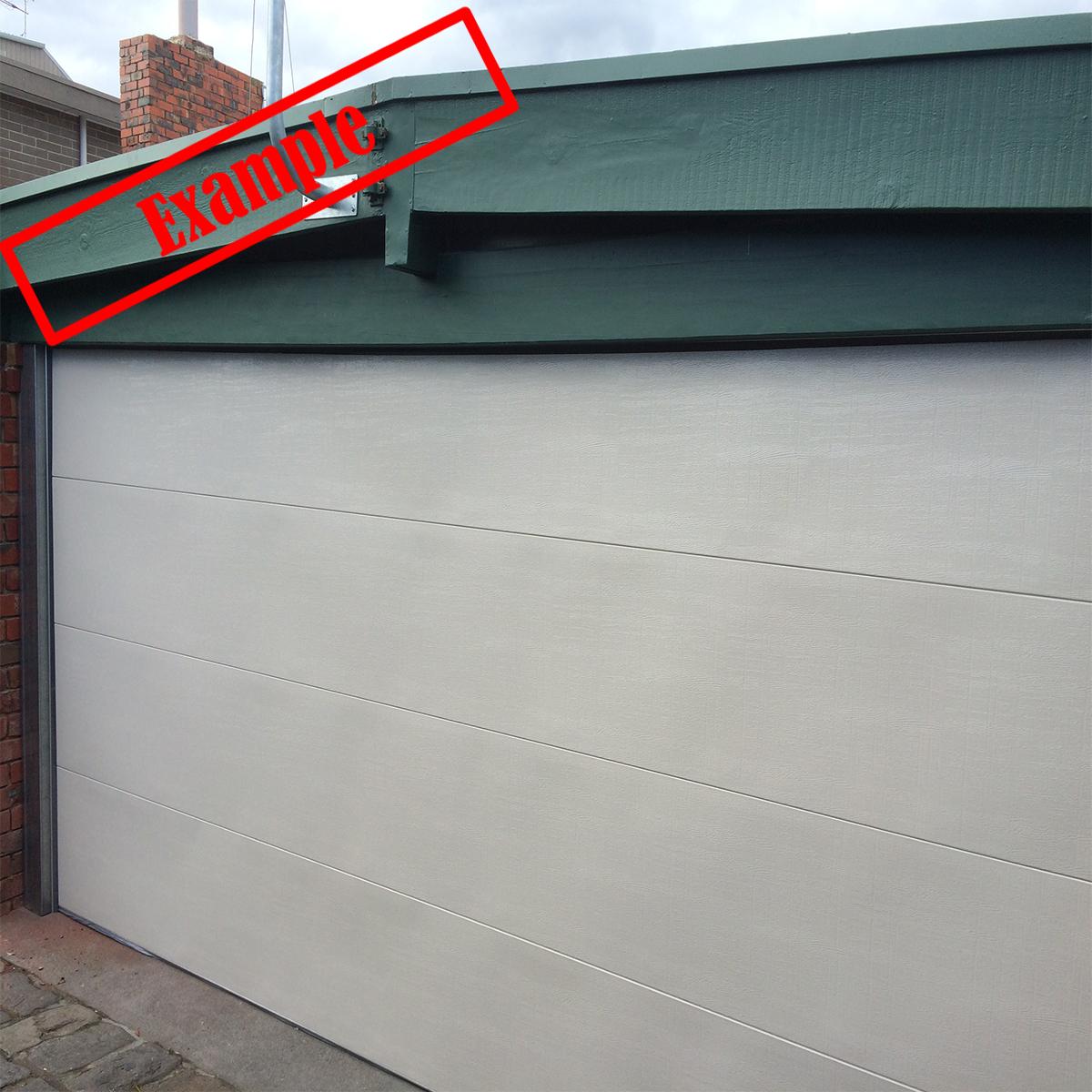 Steel line SectionalPanel Garage Door Surfmist Color