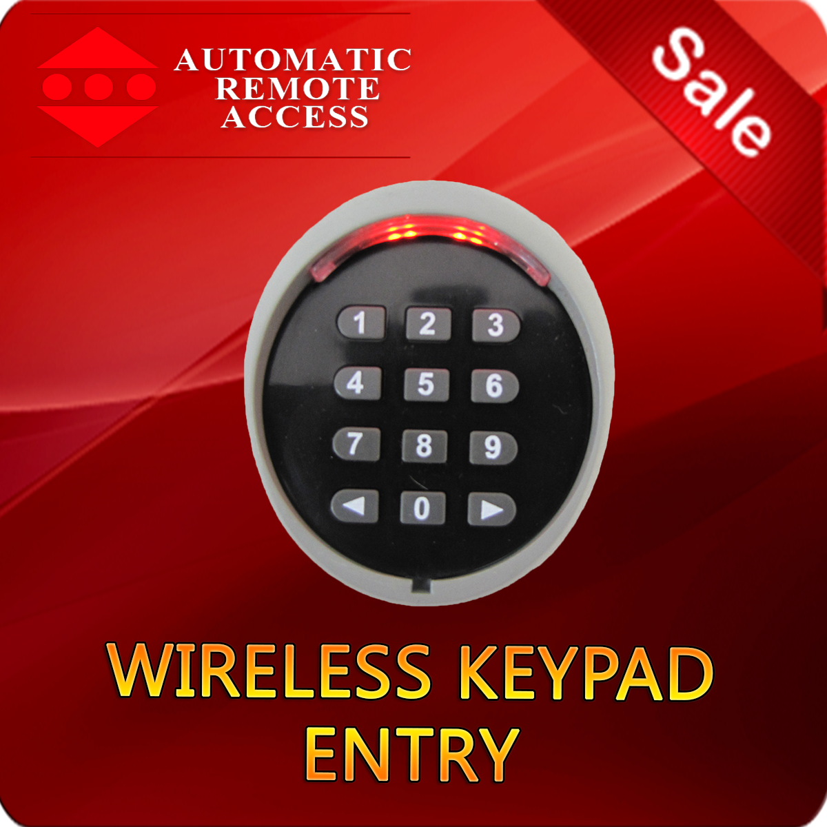 Wireless keypad entry