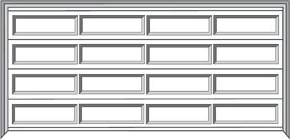 Ranch Design Sectional Garage Door