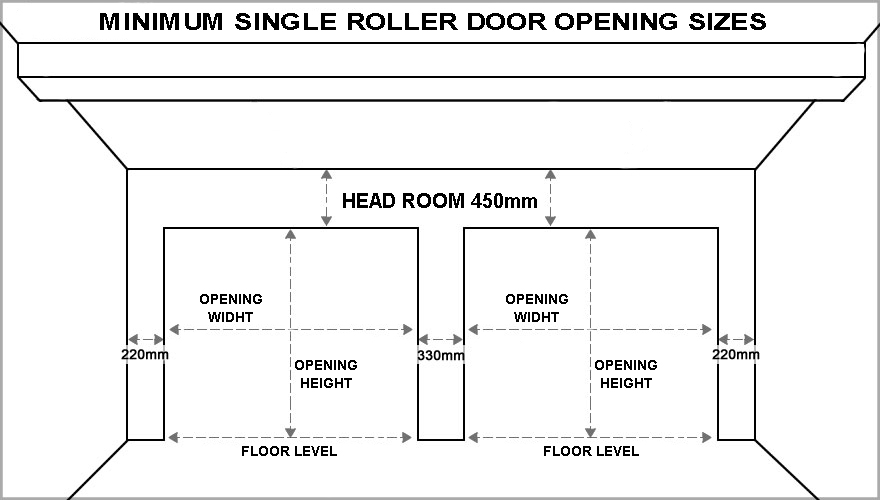 Standard Garage Door Sizes Single Amp Double Roller Doors Amp Sectional Doors