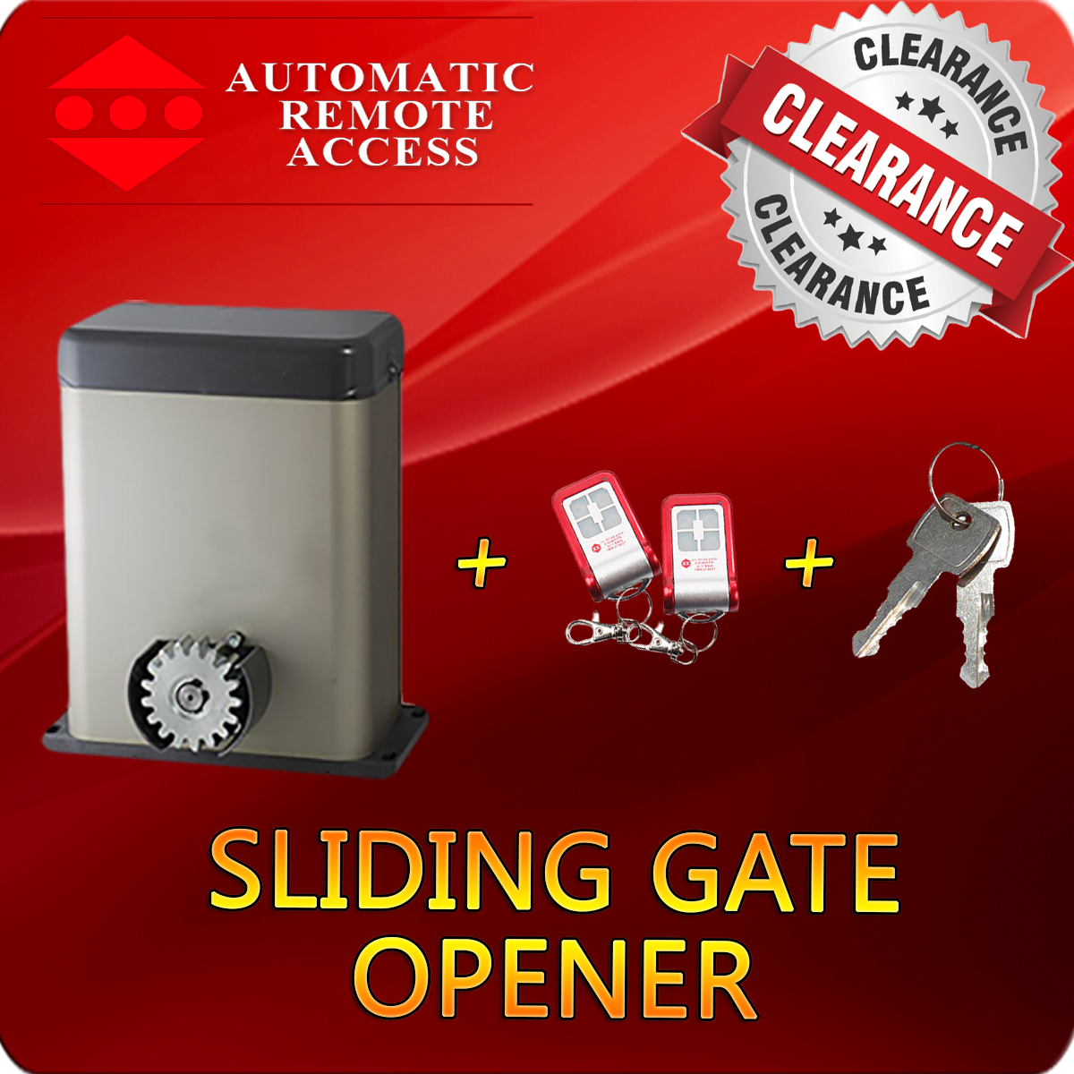 Py300dc Sliding Gate Motor Opener 2 X Remotes And 2 X