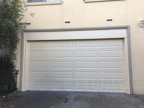 surfmist sectional garage door