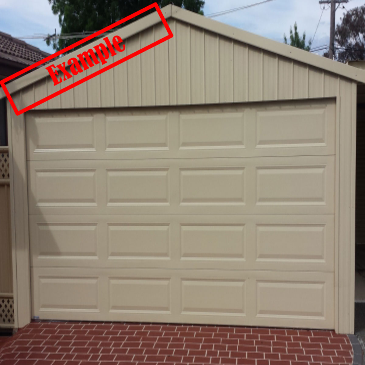 Taurean Sectional Panel Garage Door Paperbark Color